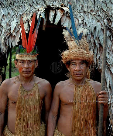 Bora Indians, Tribal Chiefs...Amazon, Peru